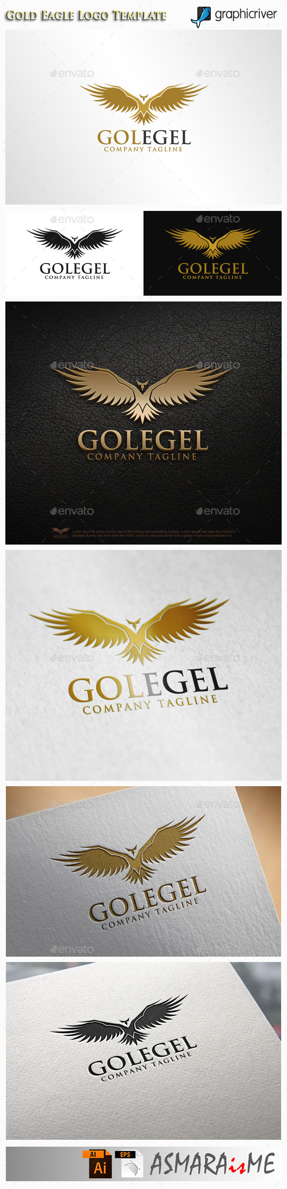 GraphicRiver Gold Eagle Logo 10811413