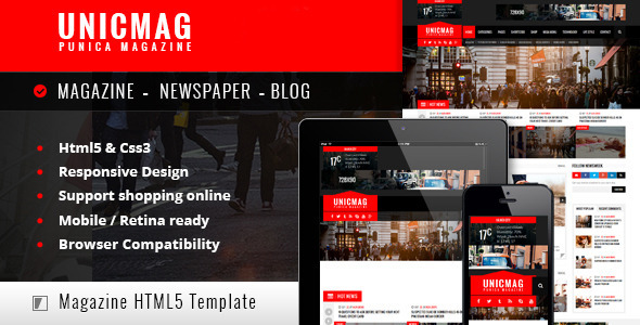 ThemeForest UnicMag HTML5 Responsive Template 10567610