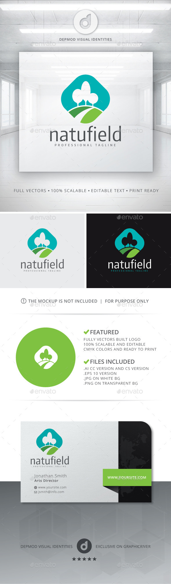 GraphicRiver Natufield Logo 10811674
