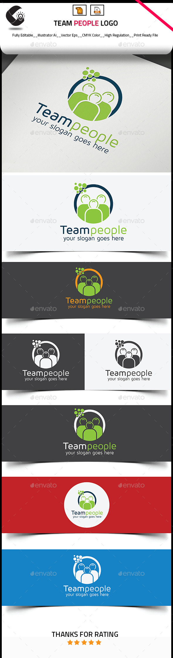 GraphicRiver Team People Logo Template 10811687