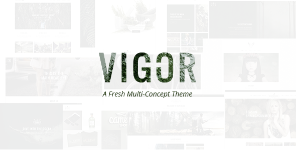 ThemeForest Vigor A Fresh Multi-Concept Theme 10811763