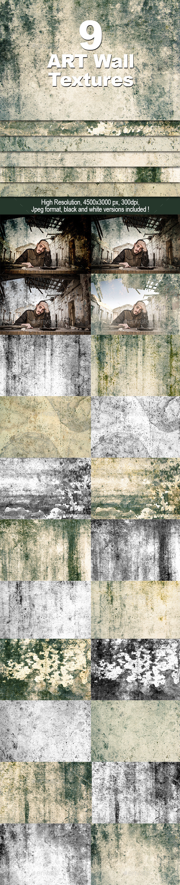 GraphicRiver Art Wall Textures 10811771