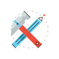 Construction tools flat line icon concept - PhotoDune Item for Sale