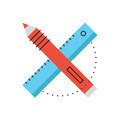 Design tools flat line icon concept - PhotoDune Item for Sale