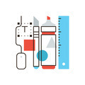 Designer tools flat line icon concept - PhotoDune Item for Sale