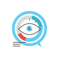 Data visualization flat line icon concept - PhotoDune Item for Sale