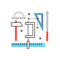 Engineering tools flat line icon concept - PhotoDune Item for Sale