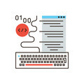 Web programming flat line icon concept - PhotoDune Item for Sale