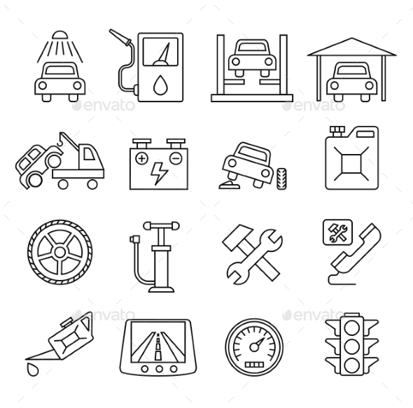 GraphicRiver Vector Auto Icons Set 10811989
