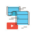 Video play flat line icon concept - PhotoDune Item for Sale