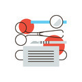 Surgical instruments flat line icon concept - PhotoDune Item for Sale