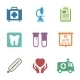 Health Care, Medical Items. Flat Style Icons - GraphicRiver Item for Sale