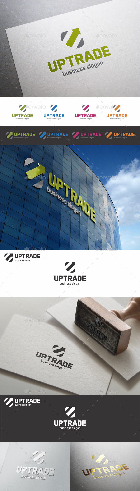 GraphicRiver Up Trade U Logo Letter 10812721