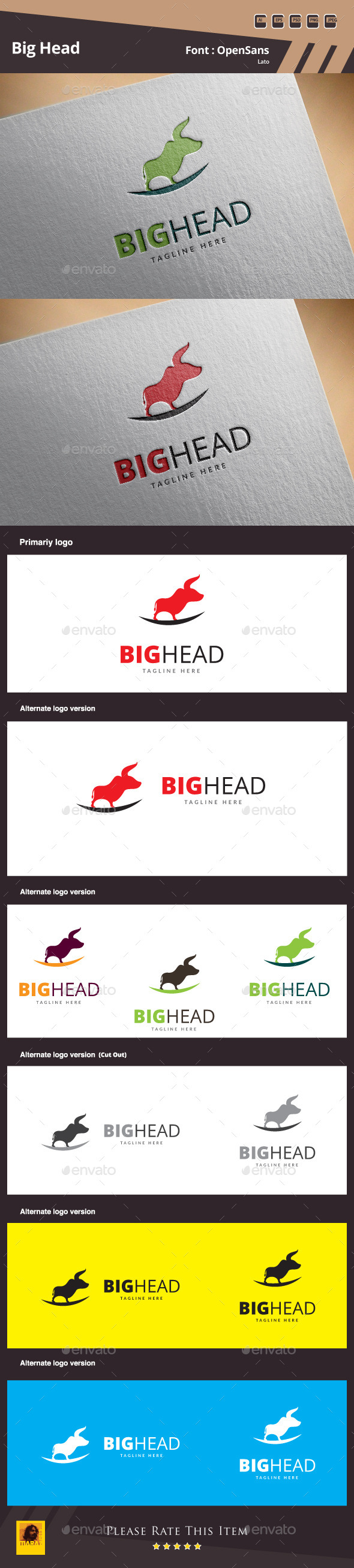 GraphicRiver Big Head Logo Template 10812894