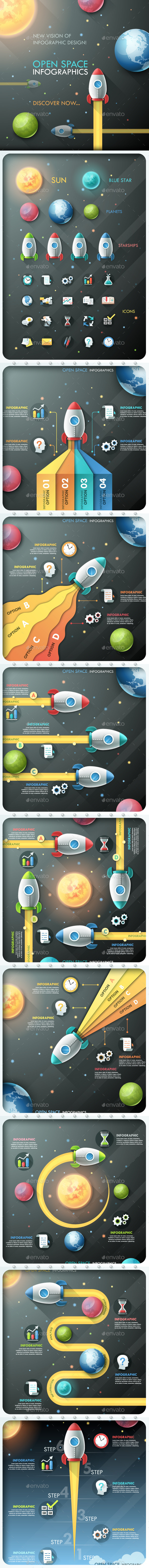 GraphicRiver Open Space Infographics 10812931