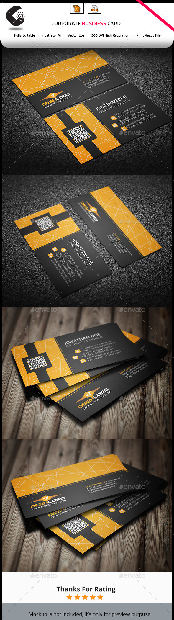 GraphicRiver Corporate Creative Business Card 10813083