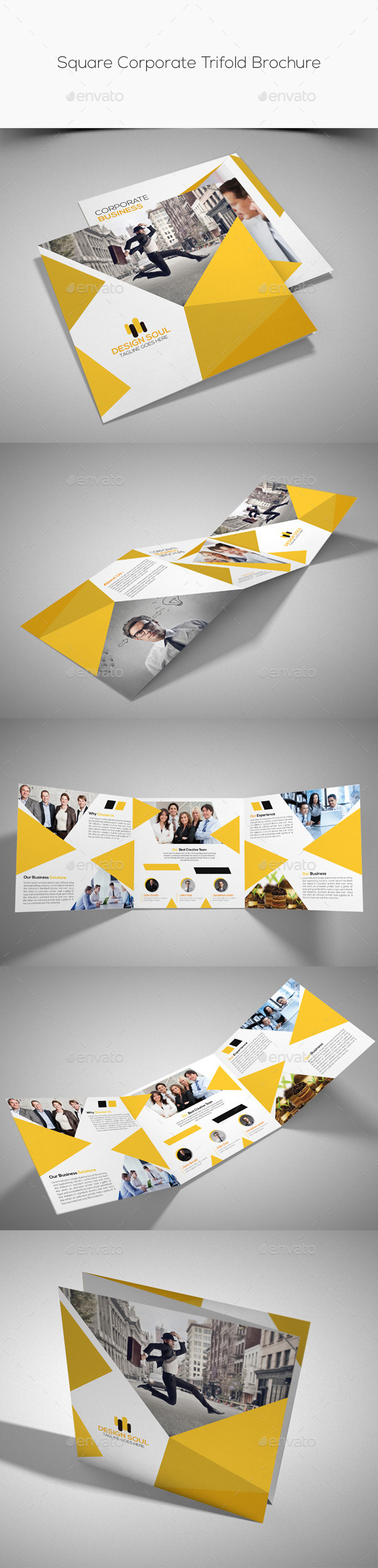 GraphicRiver Square Corporate Trifold Brochure 10813519