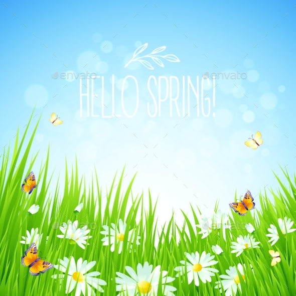 GraphicRiver Fresh Spring Background 10813567