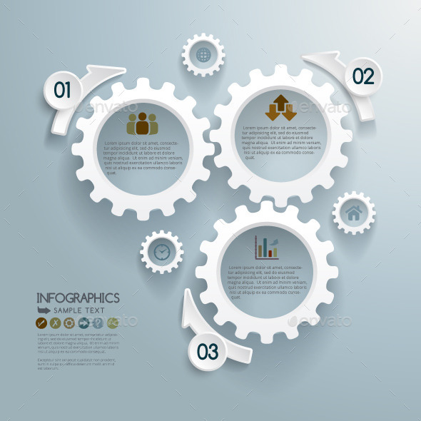 GraphicRiver Cogwheels Infographic Concept Background 10813568
