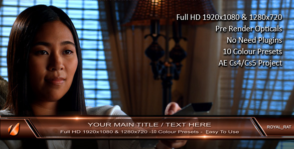 After Effects Project - VideoHive Corporate Lower Third 133702