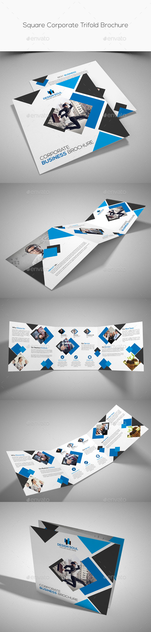 GraphicRiver Square Corporate Trifold Brochure 10813623