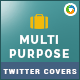Multipurpose Twitter Header - 2 Designs - GraphicRiver Item for Sale