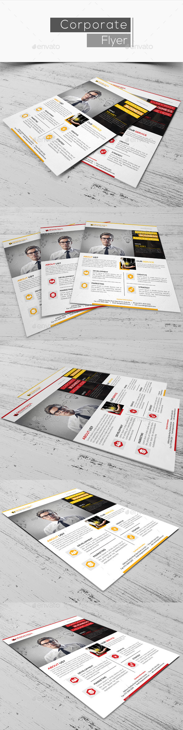 GraphicRiver Corporate Flyer 10813802