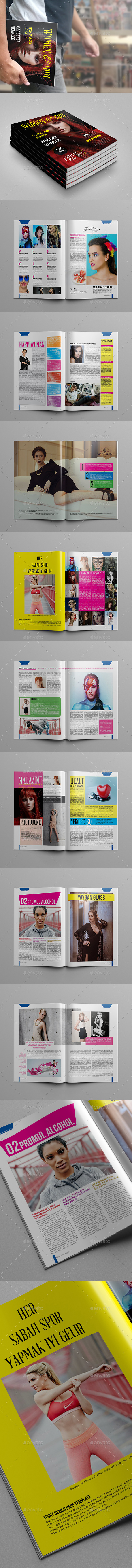 GraphicRiver Women And Girl Magazine Template 10813903