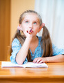 Cute little girl studying - PhotoDune Item for Sale