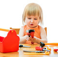 child with toy tools - PhotoDune Item for Sale