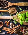 wooden spoons with spices and herbs - PhotoDune Item for Sale