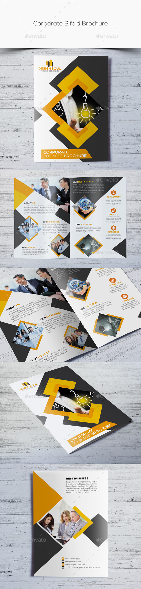 GraphicRiver Corporate Bifold Brochure 10814352