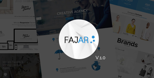 ThemeForest Fajar Multipurpose PSD Template 10741725