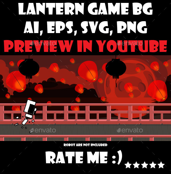 GraphicRiver Red lantern game background 10814455
