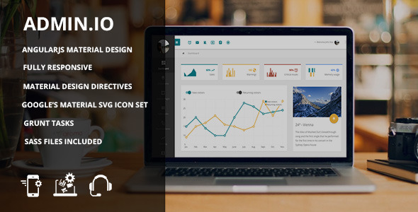 ThemeForest Admin.io Material Design Admin Template 10761963