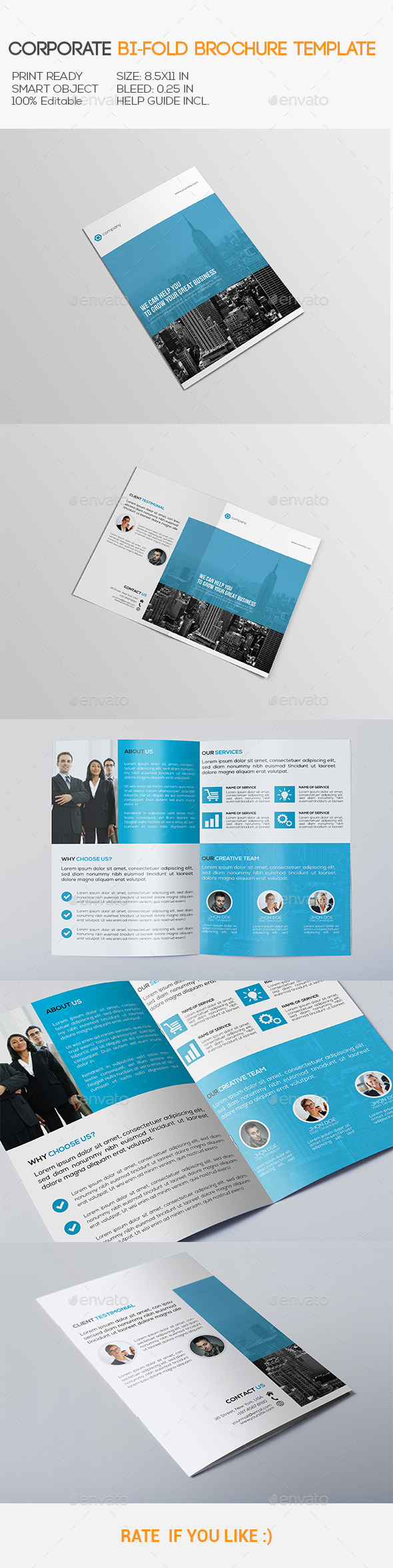 GraphicRiver Corporate Bi-Fold Brochure 10814794