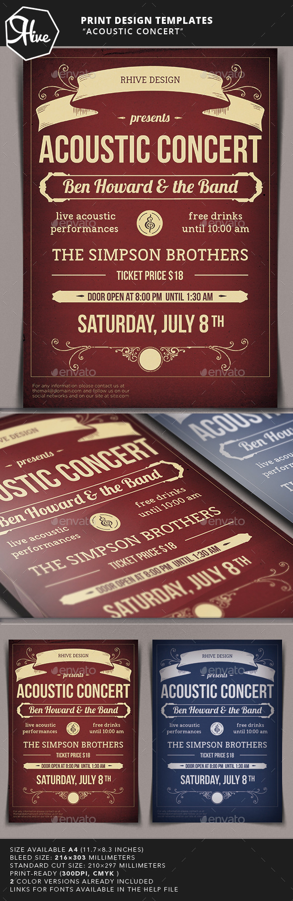 GraphicRiver Acoustic Concert Flyer 10513259