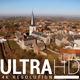 Aerial Footage Of A Small Village on A Hill  - VideoHive Item for Sale