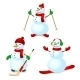 Sport Snowman Set - GraphicRiver Item for Sale