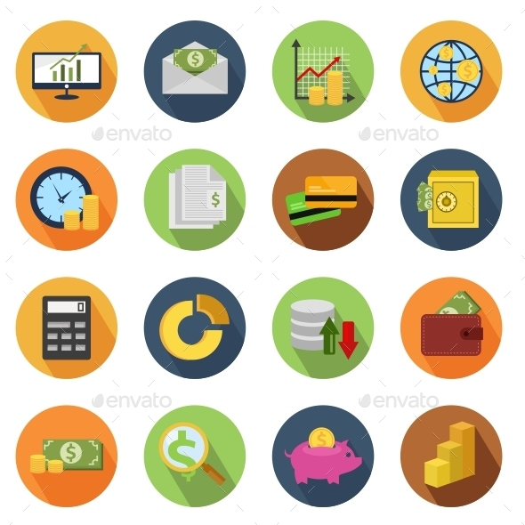 GraphicRiver Finance Circle Icons 10814912