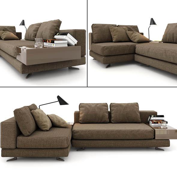 minotti sofa - 3DOcean Item for Sale