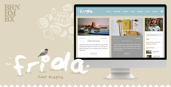 ThemeForest Frida A Sweet & Classic Blog Theme 10623362