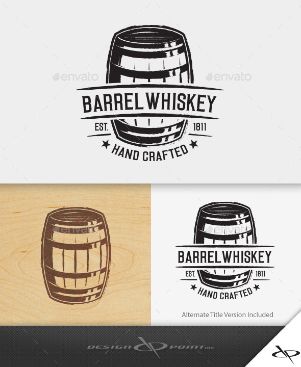 GraphicRiver Barrel Whiskey Logo 10815008
