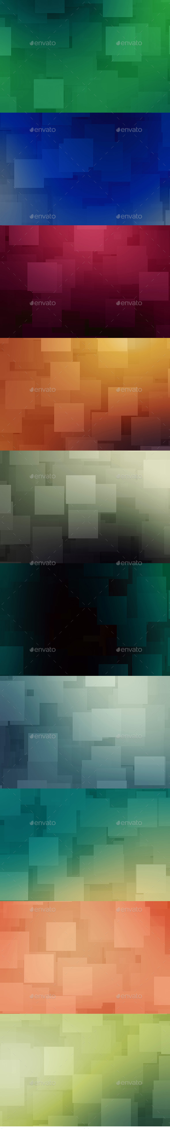 GraphicRiver Cube Backgrounds 10815077