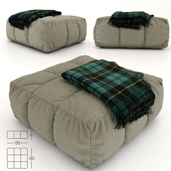 3DOcean Pouf and plaid 10815110