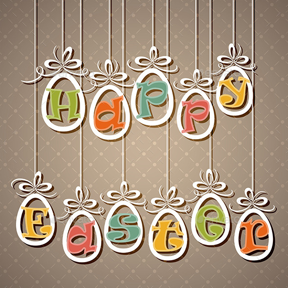 GraphicRiver Easter Eggs with Letters 10815108