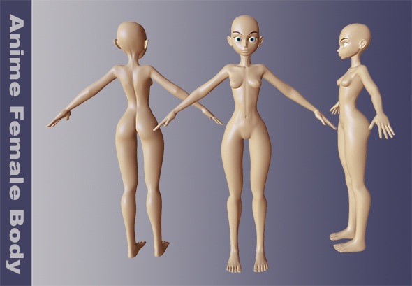 3DOcean Anime Female Body 10815112