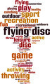 Flying Disc Word Cloud Concept - PhotoDune Item for Sale