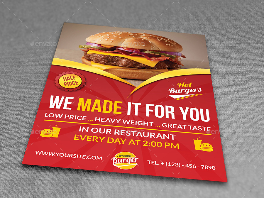 Restaurant Flyer Template Vol7 by OWPictures – Restaurant Flyers Templates