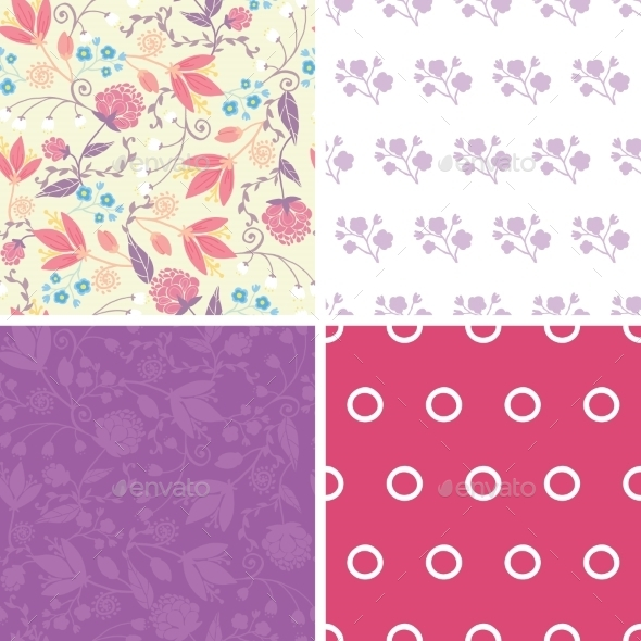 GraphicRiver Floral Patterns 10815543